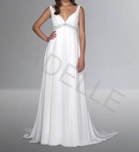 79652f524a0b Luxusní svatební empírové šaty